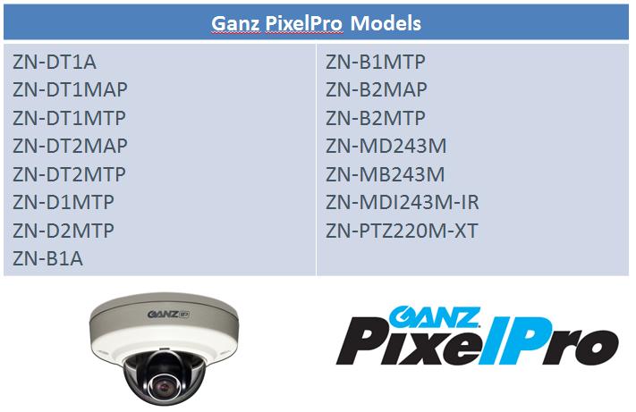 Ganz PixelPro Models