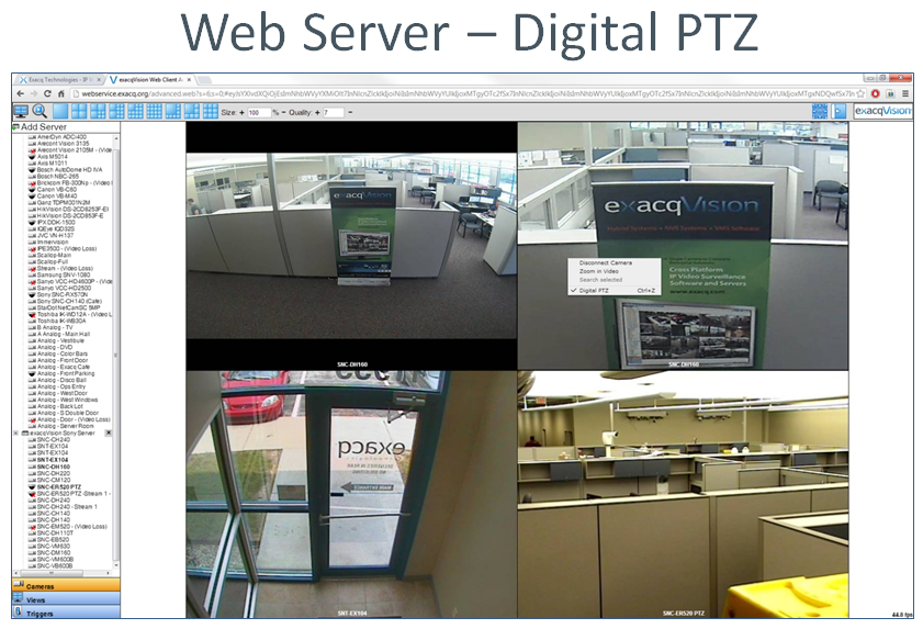 Web Server Digital PTZ Example