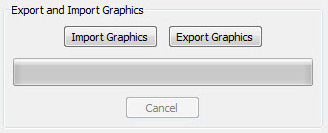 exacqVision import/export graphics buttons