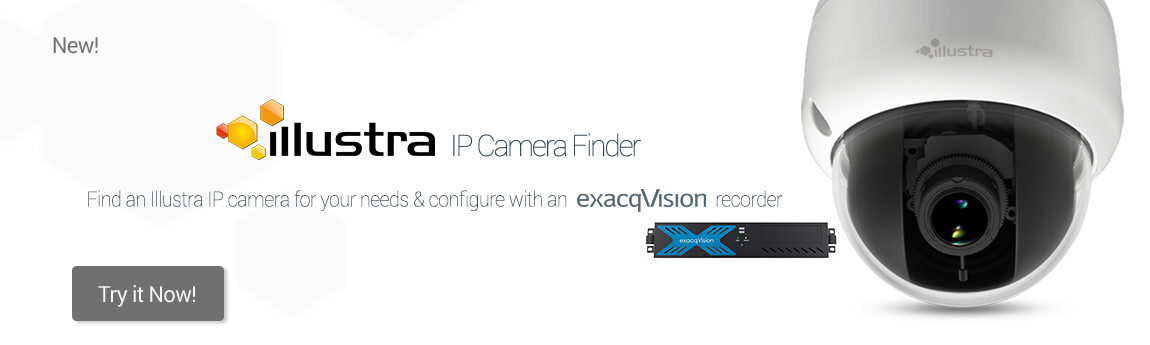 exacqVision Banner for Illustra IP Camera Finder