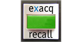 exacqRecall button