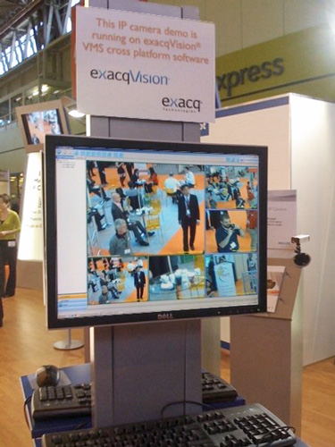 Exacq at IFSEC 2009 in the Basler booth