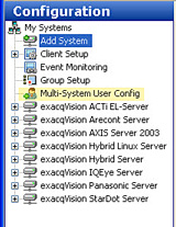 exacqVision Multi-System User Configuration