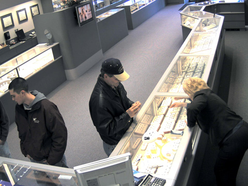exacqVision jewelry store theft video