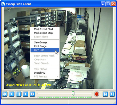 exacqVision client - exacqReplay window 2