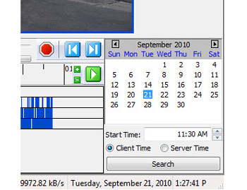 exacqVision 4.3 Server Time search feature