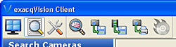 exacqVision Smart Search - new icon in menu bar