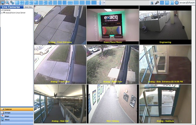 exacqVision G-Series web service