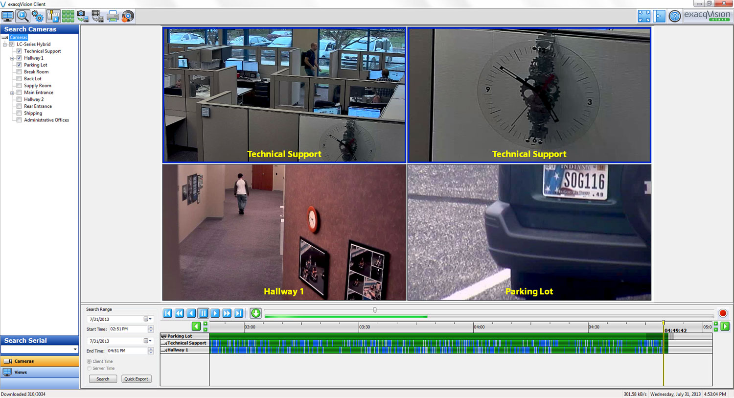 Exacq Lc Series Ip And Analog Video Surveillance Recorder