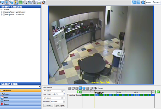 exacqVision Enterprise vms security camera management