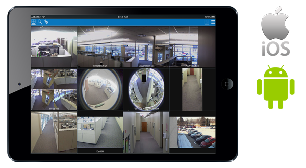 vms mobile app to monitor cctv surveillance cameras